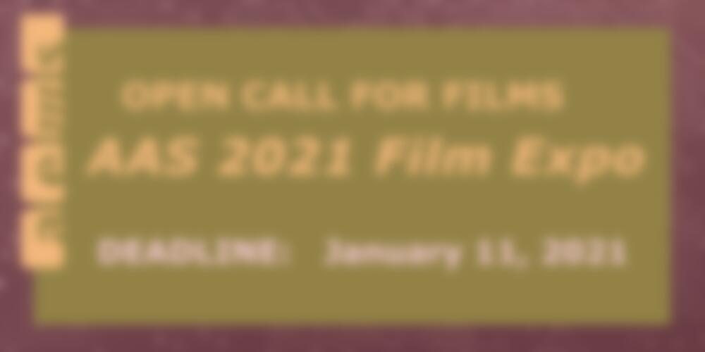 AAS 2021 Film Expo Call for Films Banner